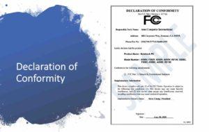 FCC Declaration of Conformity
